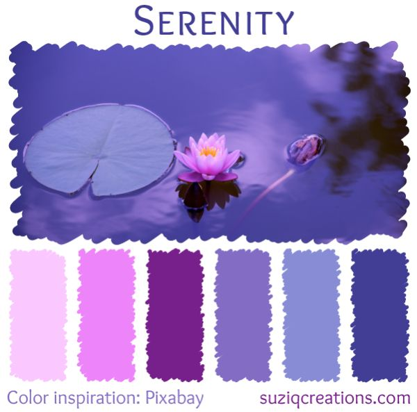 Serenity color scheme from suziqcreations.com
