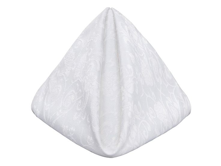 With a flirty floral pattern, this cotton napkin is perfect for that host that wants to have a traditional napkin, but with an up to date design. Having this amazing crisp white, you will not be able to find a color in our array of shades that will not be enhanced by this napkin. From garden parties to corporate functions to your next gala, you will be enticed to use it at all of your celebrations.