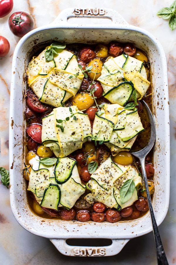 3 Cheese Zucchini Ravioli with Roasted Tomato Basil Sauce | halfbakedharvest.com @hbharvest