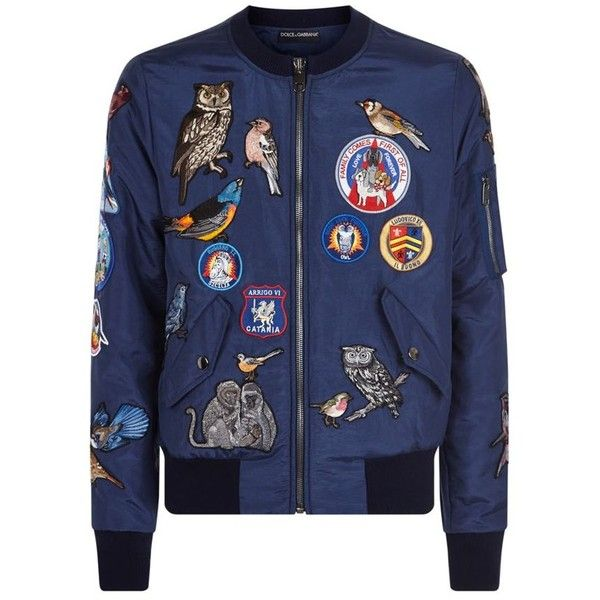 Dolce & Gabbana Patchwork Bomber Jacket ($3,785) ❤ liked on Polyvore featuring men's fashion, men's clothing, men's outerwear and men's jackets