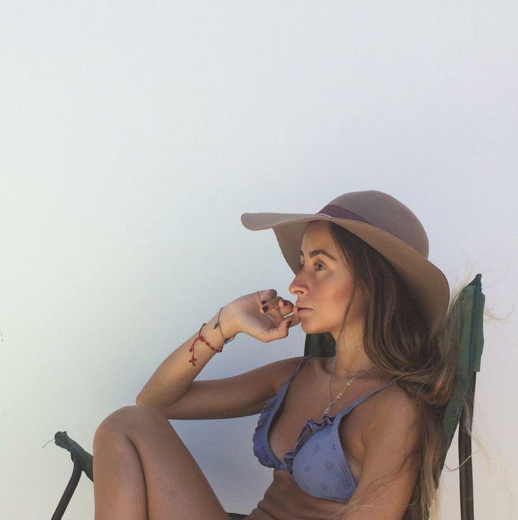 Summer hat Bikini Skinny bikini Tan skin Bronze skin