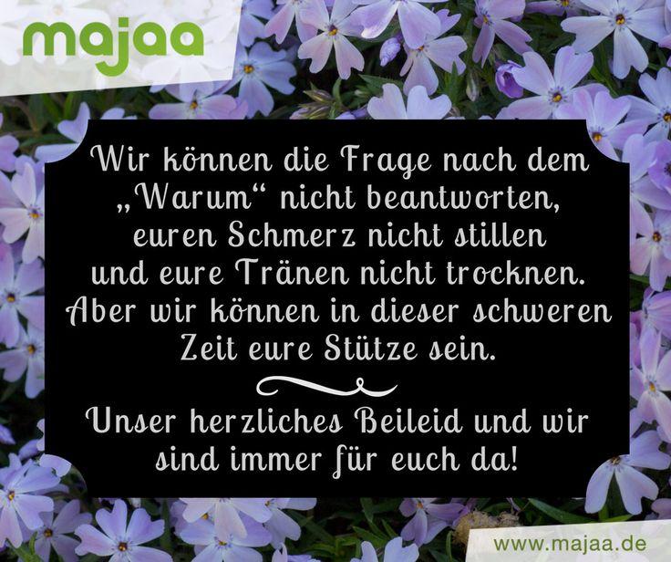 """Wunderschöne Beileidsbekundungen von majaa - """"Unser herzliches Beileid"""""""