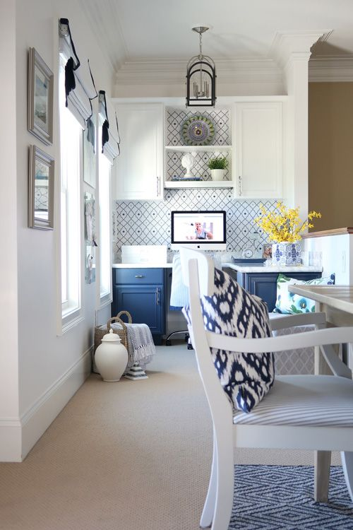 Blue And White A Hot Home Decor Trend This Summer Office