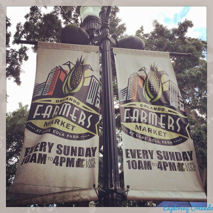 Orlando Farmer's Market at Lake Eola Park takes place weekly Sundays from 10am-4pm. | Exploring Orlando