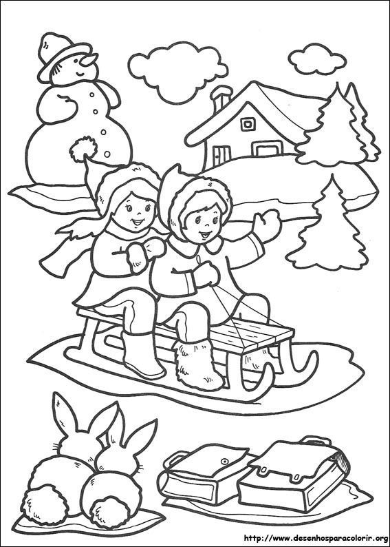 193 best Coloring Christmas Winter images on Pinterest