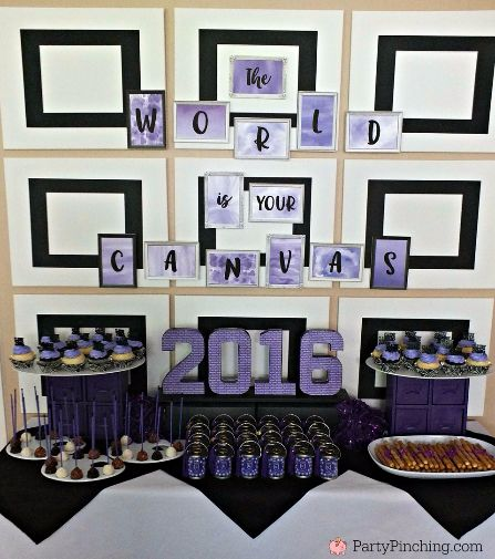 Graduation Open House Party Best Ideas Grad At Home Cute Fun School Decorations For The Graduate Diploma Cupcakes Art Theme College High