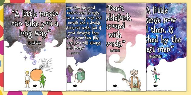 great quote posters to celebrate Dahl's 100th birthday