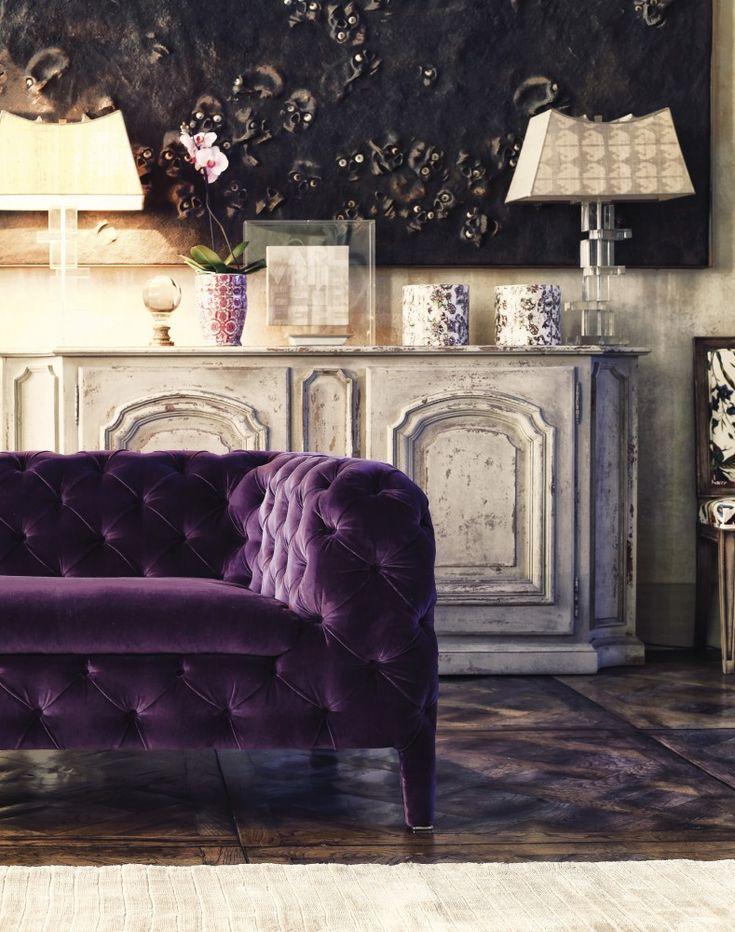 ARKETIPO Windsor, Italy. Gorgeous purple velvet