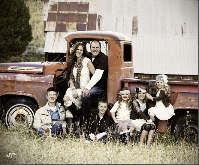 Family Portrait. Who doesnt love an old truck?