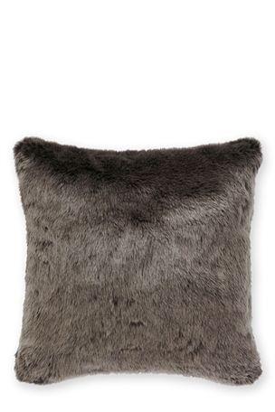 Next Polar Charcoal Faux Fur Cushion