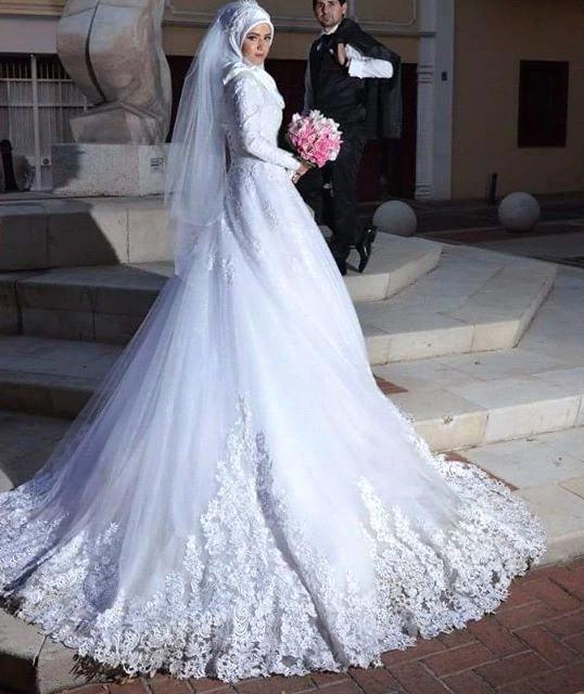 vestidos de novia arabes fotos | flowing wedding dresses | arabic