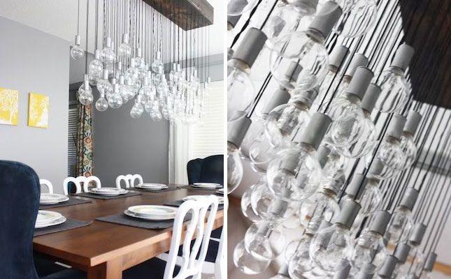 Epic Handmade Dining Room Light via Brit + Co.