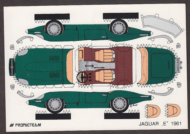 X4643 Jaguar 1961 Auto Cut Out Postcard Propacteam Mini Auto Salon | eBay