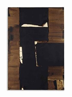 Brou de noix 109 x 74 cm By Pierre Soulages ,1977