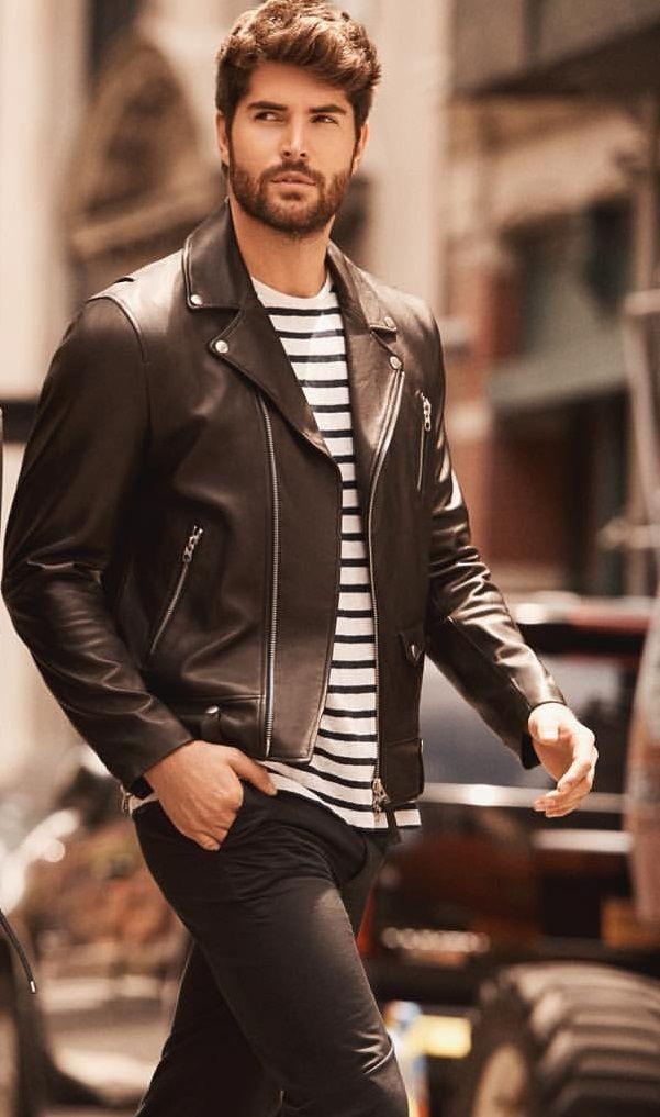 Pin By Blair On Nick Bateman Well Dressed Men Mens Attire Leather Jacket Men