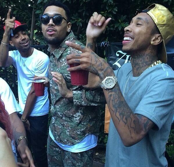 Chris Brown and Tyga turning up!