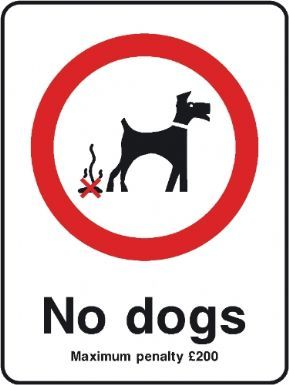 No Dogs Maximum Penalty 200 playground safety sign