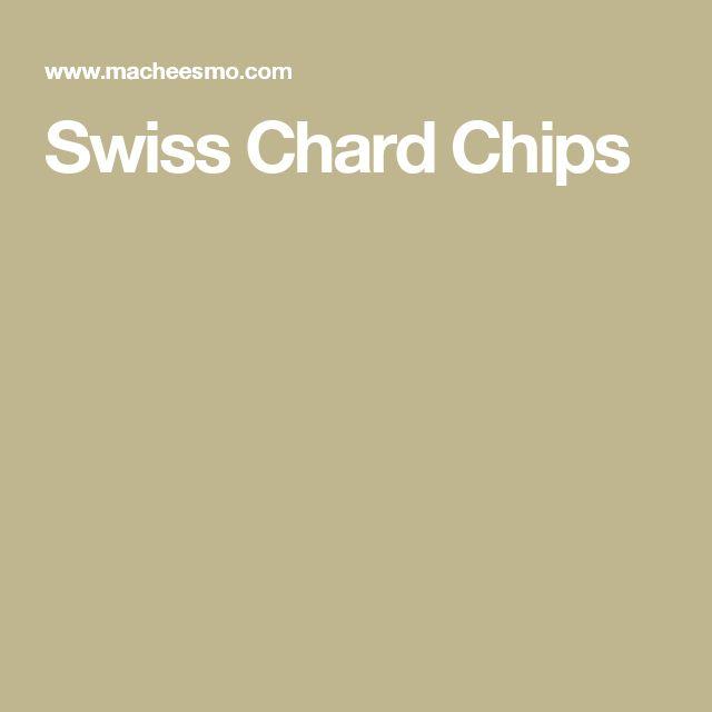 Swiss Chard Chips