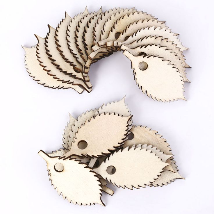 25 Etichette Foglie in Legno Tags Ornamento Merce Prezzi Scrapbooking