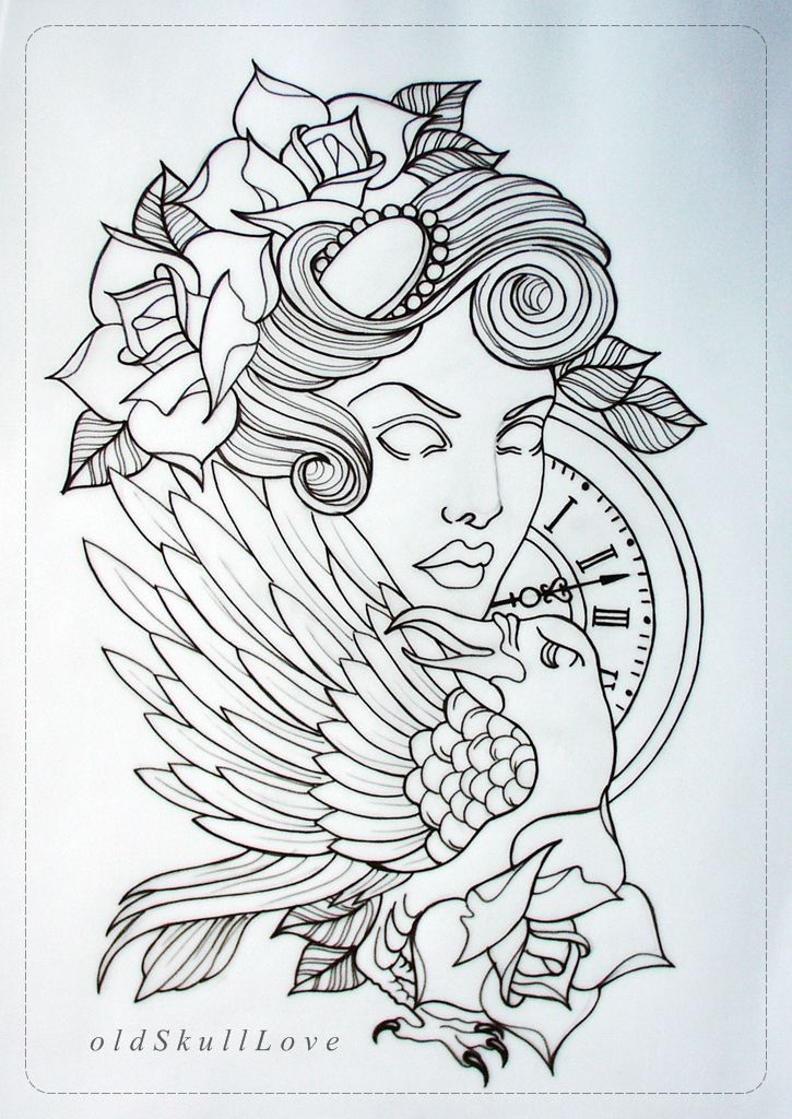 Tattoo Drawing Outline : Tattoo design outline by oldskulllovebymw viantart