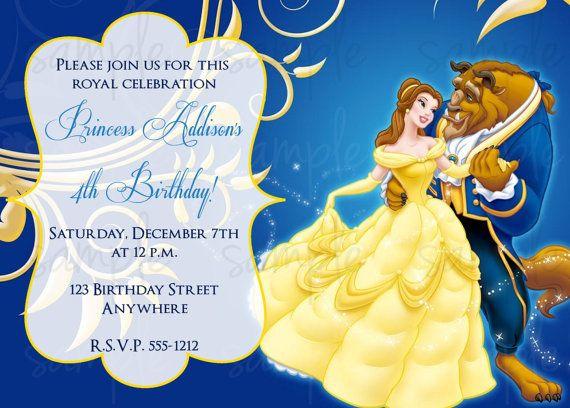 Beauty And The Beast Birthday Invitation By LoveLifeInvites