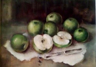 """Manzanas verdes"" 35*45 cm, lienzo/óleo, 2016"