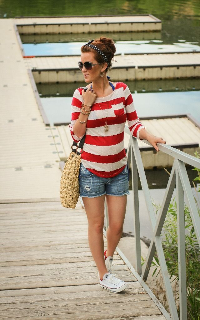 The Freckled Fox : Maternity Style // a bit of Red, White, and Blue:)