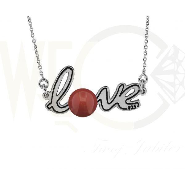 Srebrny wisiorek z perłą Swarovskiego / Silver pendant with swarovski pearl / 99 PLN   #silver #pendant #love #gift #jewelery #wisiorek #miłość #srebro