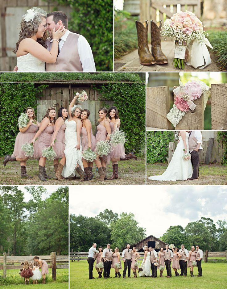 Rustic louisiana wedding by chantilly wedding photography with cowboy boots & baby's breath