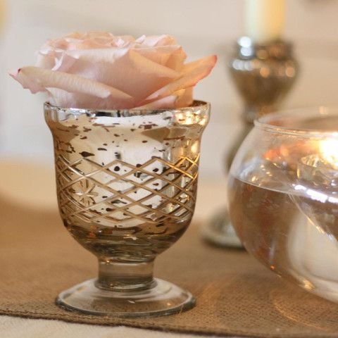 Mercury Silver Footed Tea Light Holder Or Vase Our Weddingwedding Tables Dream
