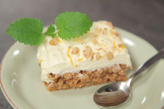 Gulrotkake med cream cheese-frosting