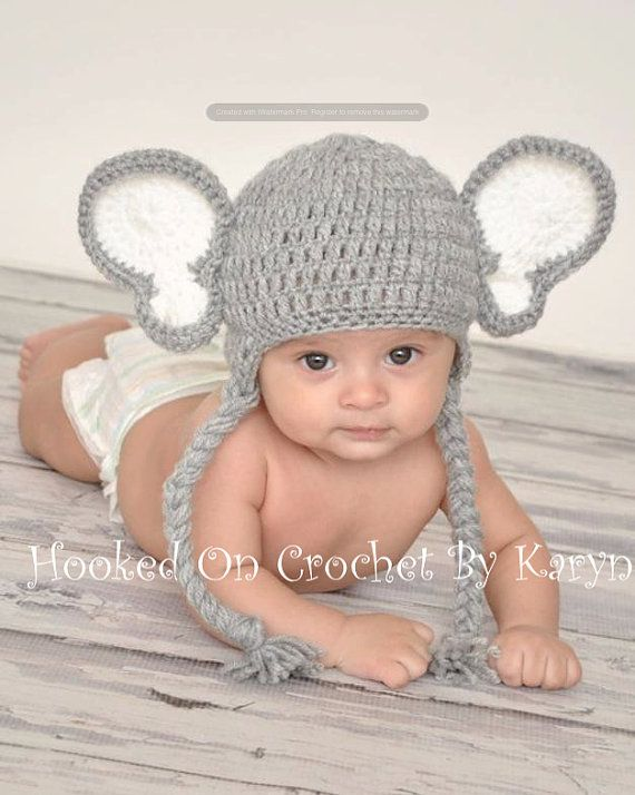 Crocheted Elephant Hat