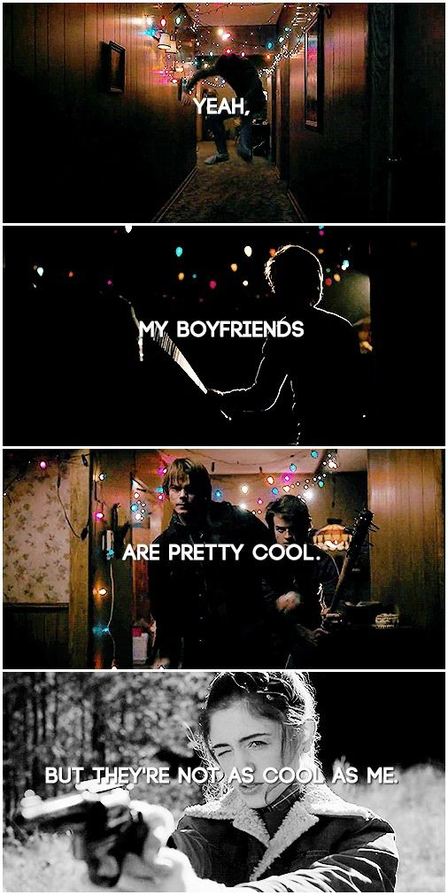 Yeah, my boyfriends are pretty cool. But they're not as cool as me.