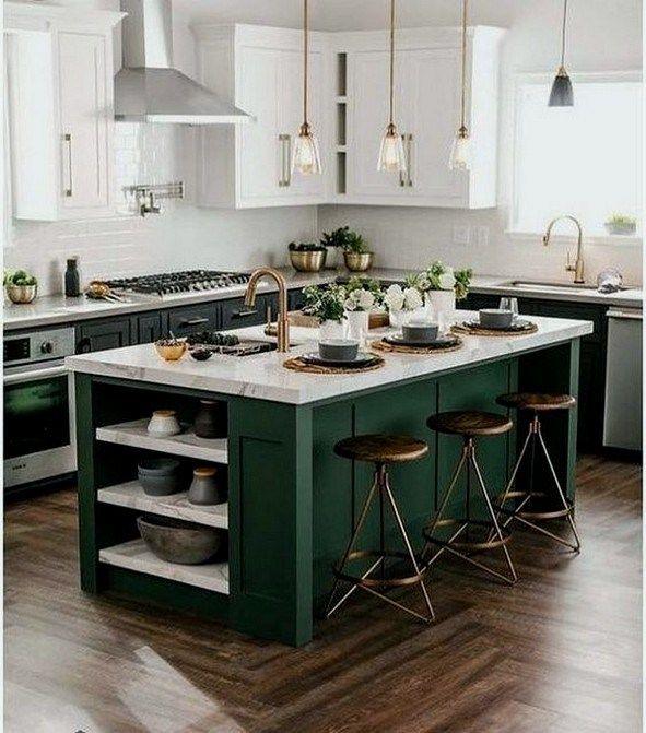23 Cozy Color Kitchen Cabinet Decor Ideas All About Home Decor Kitchen Design Color Kitchen Cabinets Decor Beautiful Kitchens