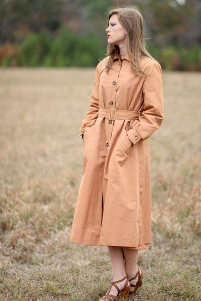 1960s mod retro trench coat from my avonlea vintage. Black Bedroom Furniture Sets. Home Design Ideas