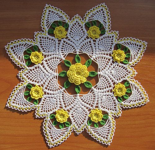Ravelry: NIkOLYA's Yellow Rose of Texas Doily by Maggie Petsch Chasalow from HOUSE of WHITE BIRCHES # 107018