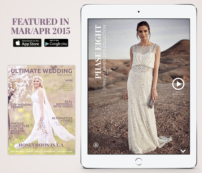 Gorgeous dresses from Phase Eight in the new issue! #weddingdress #bridal #wedding http://bit.ly/uwmmarapr2015