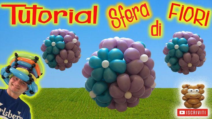 PALLONCINI MODELLABILI tutorial 41 sfera di fiori (allestimento/decorazi...