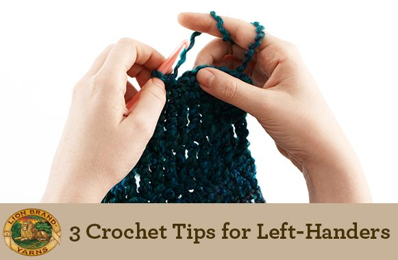 Here are a few tips that have proven helpful to those who hold their crochet hook with their left.