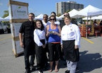 Liaison College Whitby: promoting the market's Food Drive, partnered with Pickering Town Centre