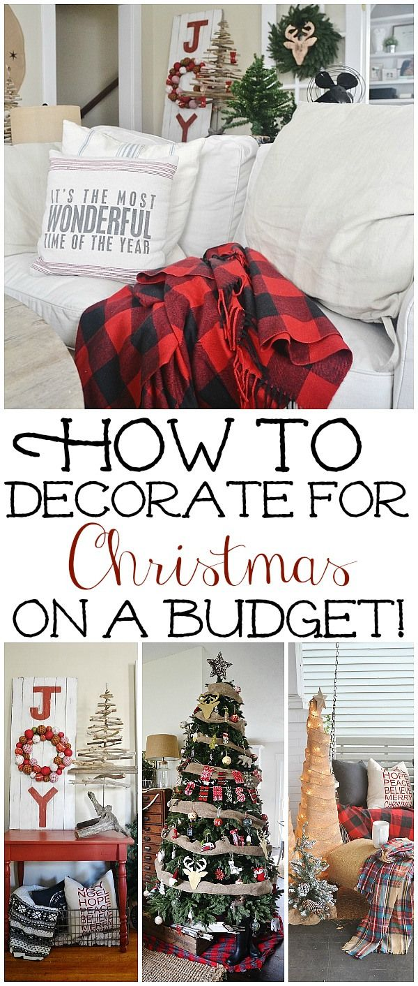 How to decorate for the holidays on a budget! Great tips & tricks to get your home looking festive in no time!