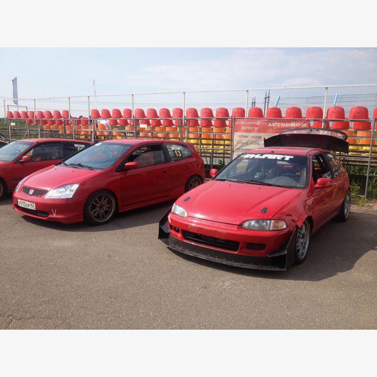 Time Attack Honda Civic #EP3 & Honda Civic #EG #k20 #redliners #redlinersracingspb
