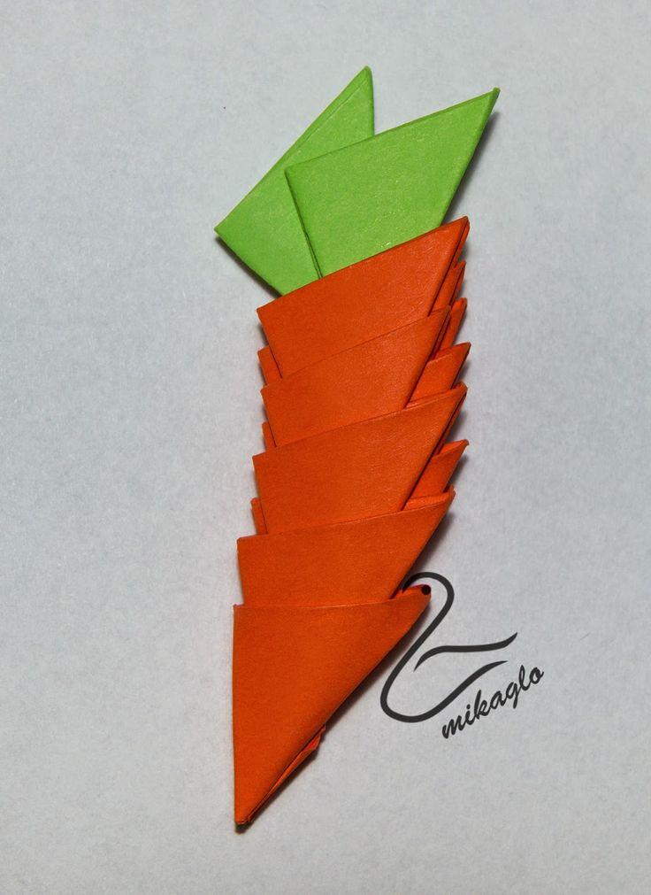 Mikaglo - Origami Modułowe - Origami 3d: 27. Królik Wielkanocny - origami 3d tutorial / Tutorial for origami 3d bunny