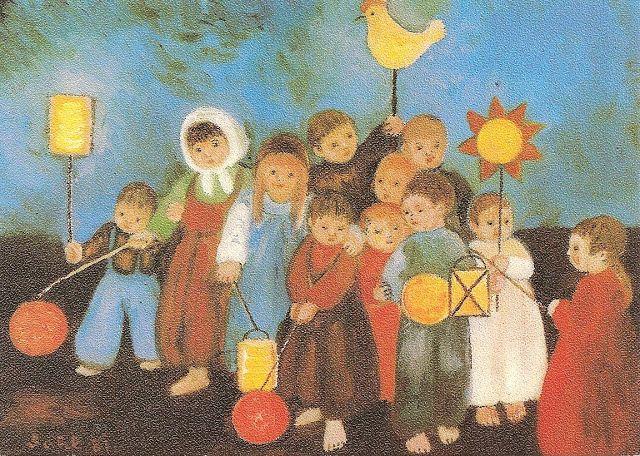 St. Martin's Day german postcard