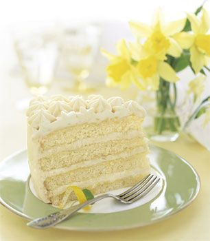 I've only made this once but it is AMAZING!   Lemon Layer Cake with Lemon Curd and Mascarpone