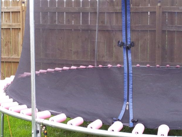 Trampoline Springs - cover with pool noodles