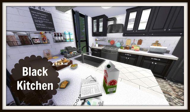 Sims 4 - Black Kitchen