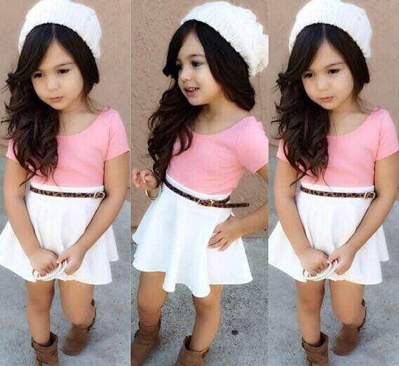 cce8428641b9f Pas cher mode estivale fille robe de bébé fille vêtements pour enfants  vêtements ensemble ensemble robe ...