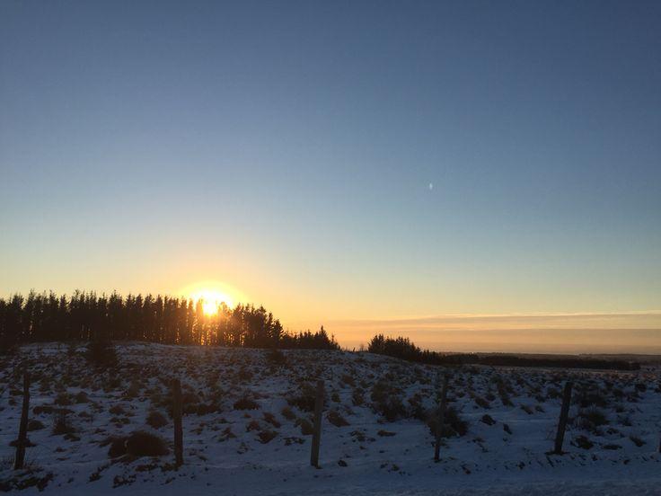 Solnedgang på Jæren er fantastisk med sin høye himmel