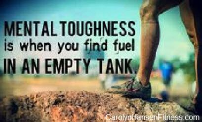 Losing weight is mental first and requires a strong mindset/inner foundation in order to push through the tough times and succeed. CarolynHansenFitness.com
